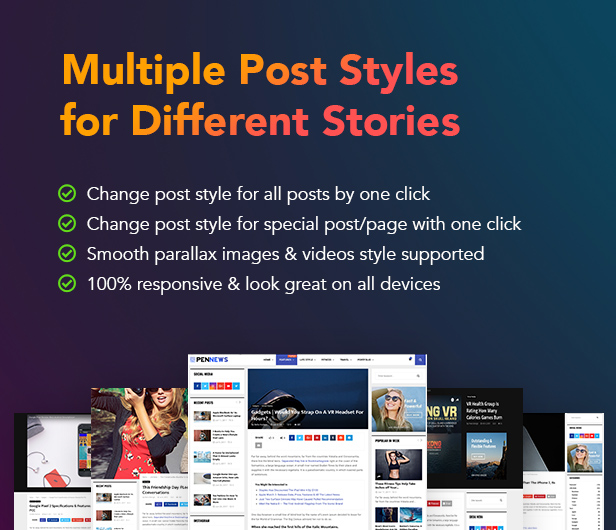 PenNews - News/ Magazine/ Business/ Portfolio/Reviews Landing AMP WordPress Theme - 13